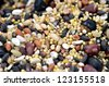 The close-up of mixed rice. (16 kinds of cereals) - stock photo