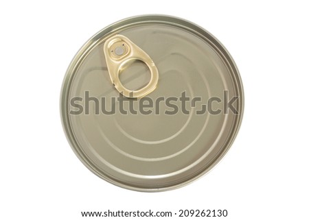 The closed can with ring-pull - stock photo