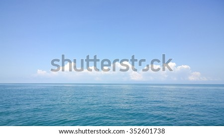 The cloud and the sea - stock photo