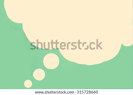The cloud bubble shape with green background in vintage style - stock photo