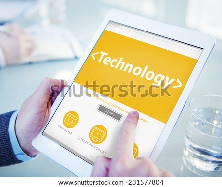 The Cloud Data Center Technology Online Internet Concept - stock photo