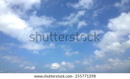 The cloud is full at the sky - stock photo