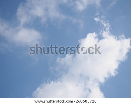 The Cloud Look Like Dragon with Blowing Fire on the Sky  - stock photo