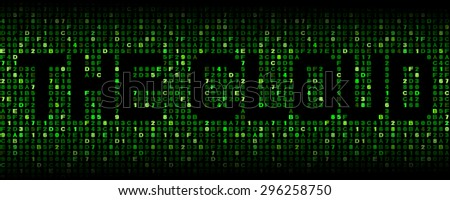 The Cloud text on hex code illustration - stock photo