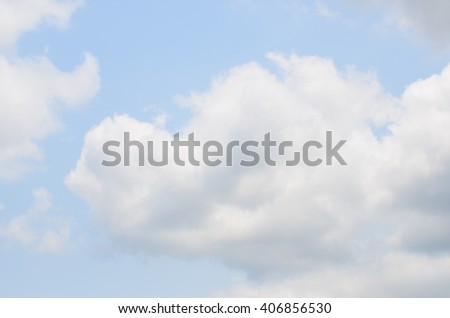The clouds in daytime - stock photo
