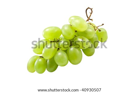 the cluster of vine is isolated on a white background