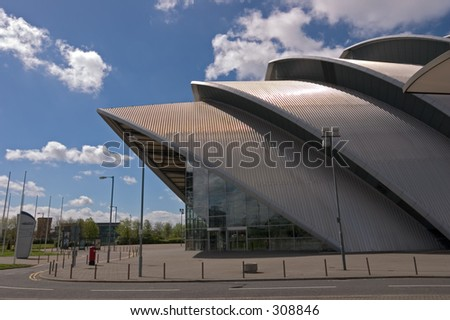 "The Clyde Auditorium, Glasgow, better known locally as ""The Armadillo"""