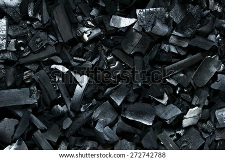 The coal. Background charcoal not burning . - stock photo