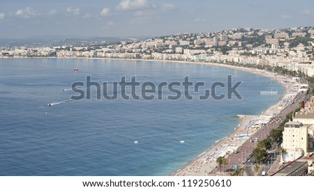 The Coast from Castle Hill - stock photo