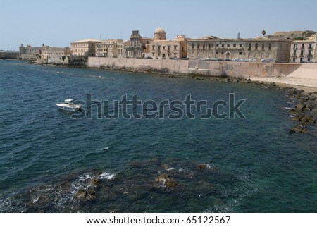 The coast of Siracusa on Sicily
