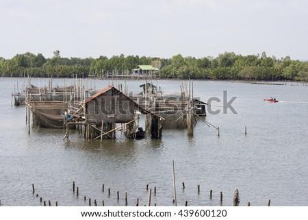 The coastal fisheries in Chanthaburi province, Thailand - stock photo
