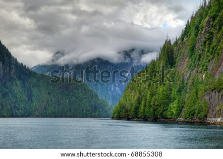 The coastal inlets of Misty Fjords National Monument, Alaska - stock photo
