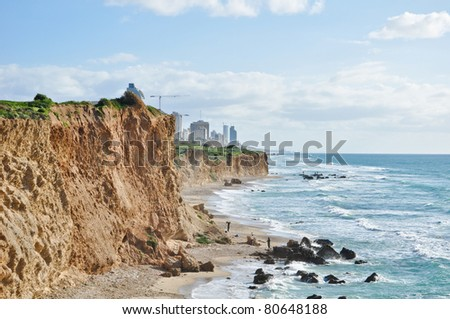 The coastline of Netanya (near Tel aviv), Israel