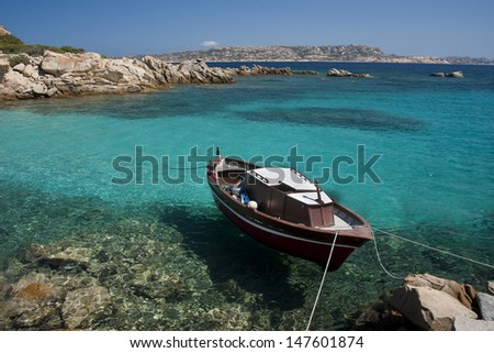 The coastline of Spargi, island in the archipelago of La Maddalena, Sardinia, Italy - stock photo