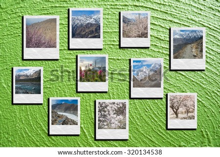 The collage Hunza Valley, Pakistan photos - stock photo