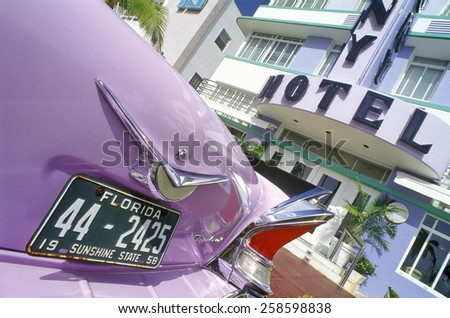 The Colony Hotel in south beach, Miami Beach, Florida - stock photo