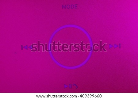 The color filter mode and function symbol of the loudspeaker shown the loudspeaker functional represent the speaker and sound device concept related idea. - stock photo