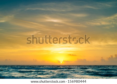 The color of sun - stock photo