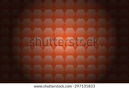 The color orange polygon background illustration.