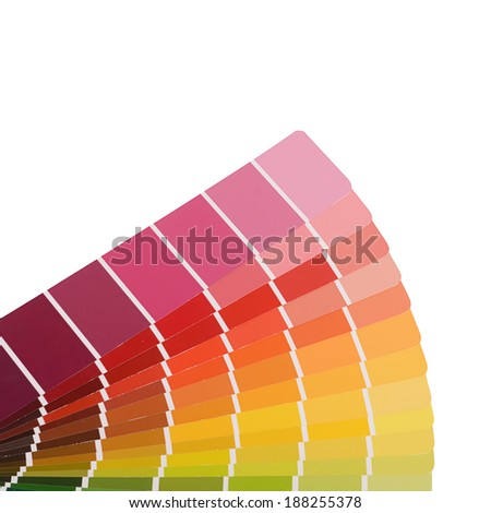 The color palette isolated on white background - stock photo