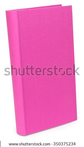 The color pink photo albums on wite isolated backround