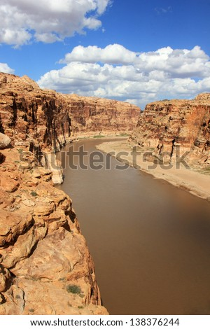 The Colorado River in southern Utah, USA. - stock photo