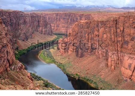 The Colorado river near Glen Canyon Arizona - stock photo