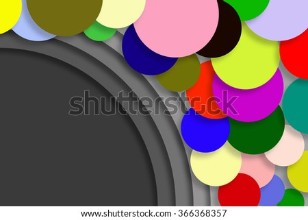 The colorful background circle