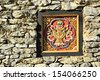 The Colorful carving wood of bhutan style  - stock photo