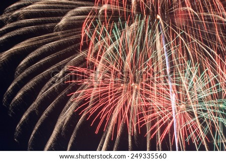 The colorful firework - stock photo