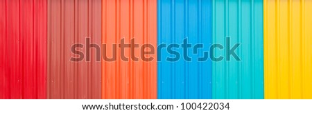 The Colorful roof metal - stock photo