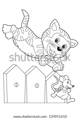 The coloring plate - illustration for the children - stock photo