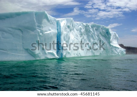 The Colors of an Iceberg - stock photo