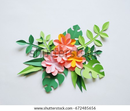 Colors Paper White Background Tropics Stock Photo Royalty