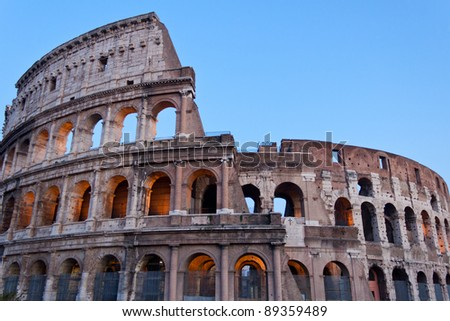 The Colosseum, also called Flavian Amphitheatre, in Rome, Italy