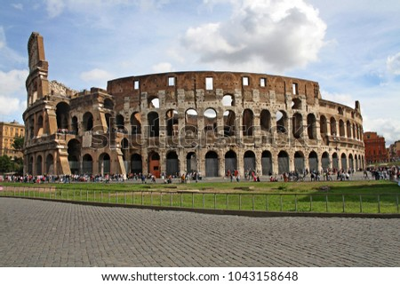 The Colosseum of Rome, the largest amphitheatre ever built.