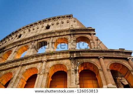 The Colosseum was built in the 70s AD and was the largest amphitheatre built during the Roman Empire.