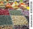 The colourful and aromatic egyptian spice market that is situated in the turkish city of istanbul. - stock photo