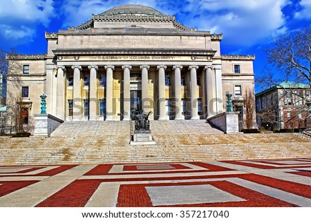 The Columbia University in New York City at blue sky - stock photo