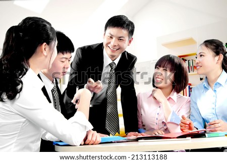 The company's training and discussion - stock photo