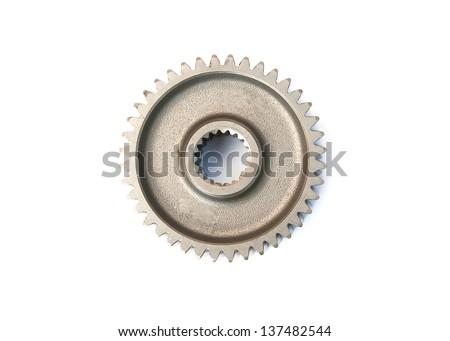 The components of the internal combustion engine, motorcycle, tillers, lawn mower,  product of moped motor unit. - stock photo