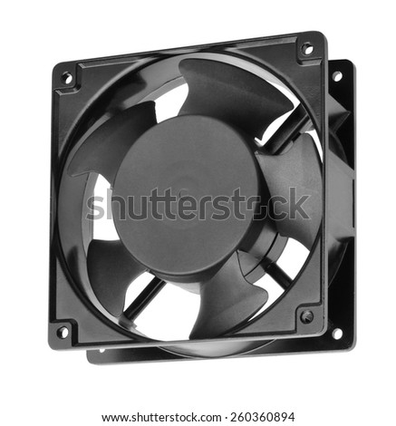 The computer fan - stock photo