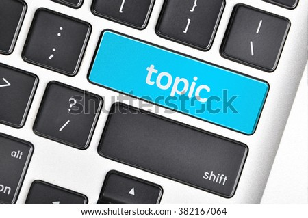 The computer keyboard button written word topic .