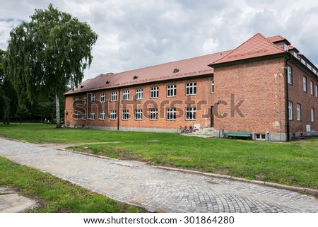 the concentration camp in Stutthof- Poland - stock photo