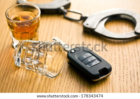 the concept for drink driving - stock photo