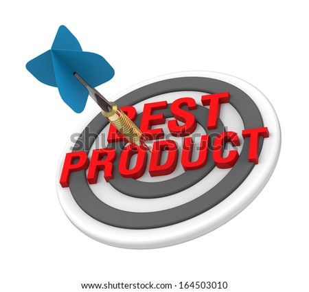 The concept of best product. Computer generated 3D photo rendering. - stock photo