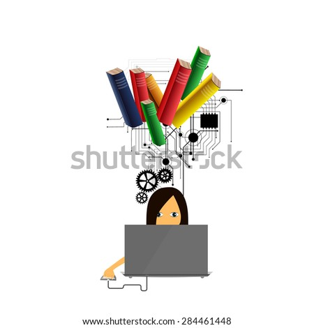 The concept of education, science and knowledge.  - stock photo