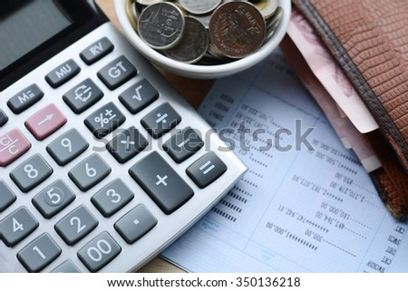 The concept of financial stability,Income Statement - stock photo
