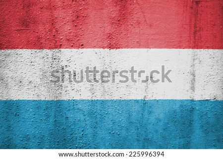 The concept of national flag on metal background: Luxembourg - stock photo