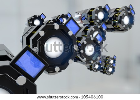 The concept of new media - stock photo